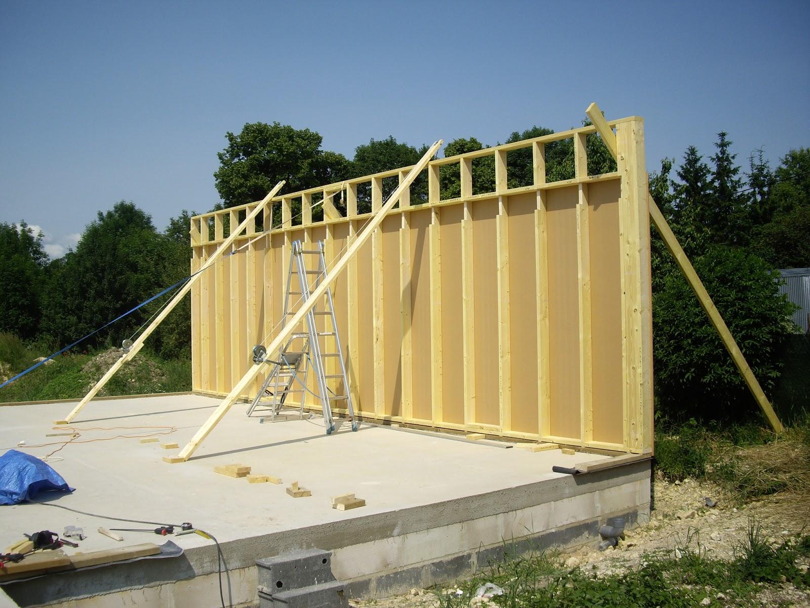 passive  Maison ossature bois (MOB) Ossature bois (jour