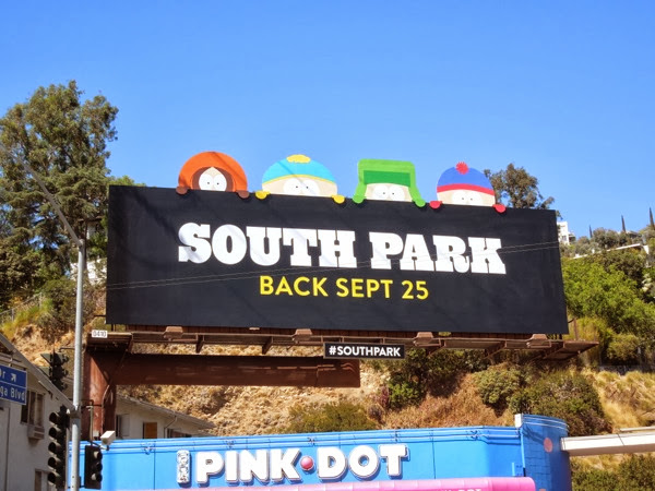 South Park season 17 special extension billboard