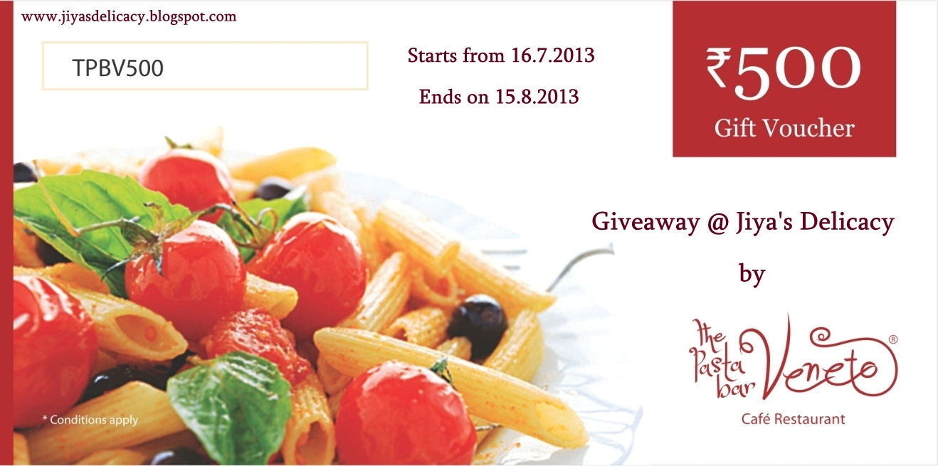 jiyas delicacy the pasta bar veneto cafe restaurant gift voucher giveaway