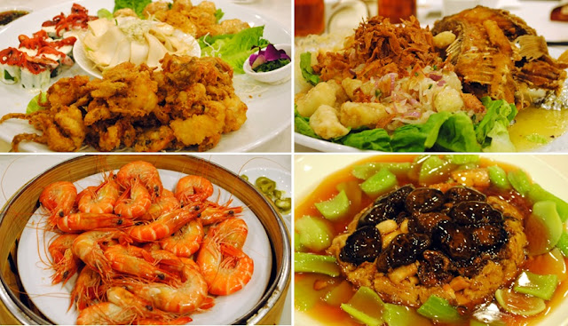 garoupa, lingzhi mushroom, tiger prawns