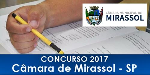 Apostila Concurso Câmara de Mirassol SP 2017
