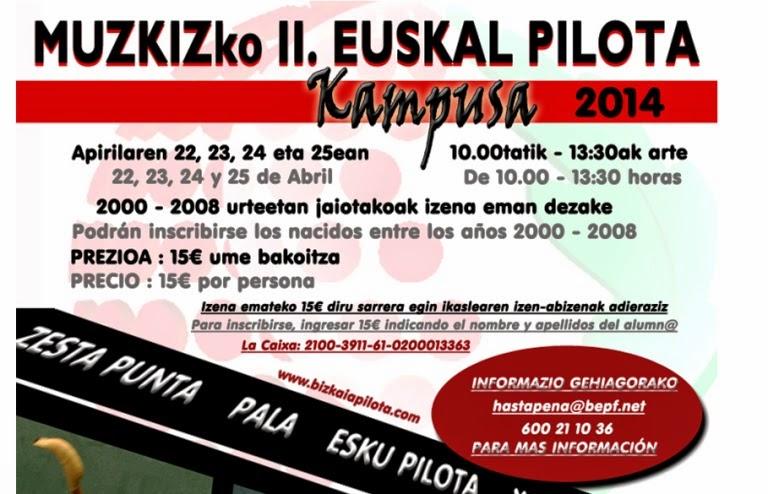 II Campus de Muskiz de Pelota Vasca