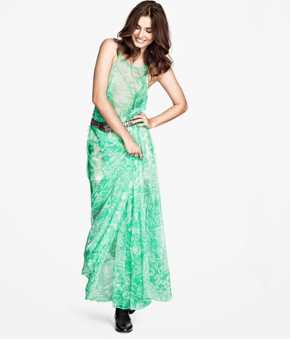 maksi+elbiseler H & M 2014 Sommer Kleidung Models