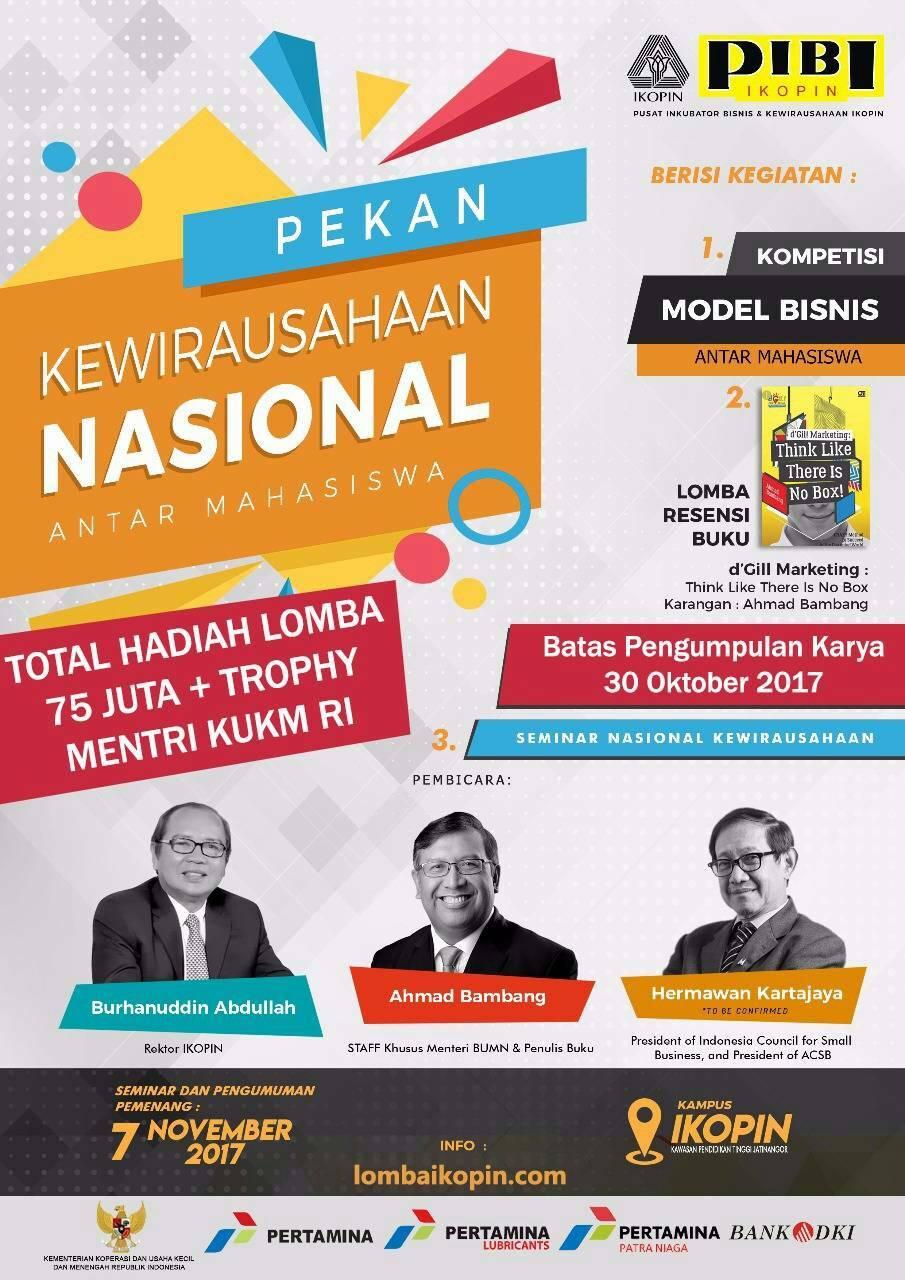 [Gartis] Lomba Resensi Buku dan Business Model Nasional 2017