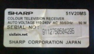 TV Sharp 21 inch tipe 51V20MS