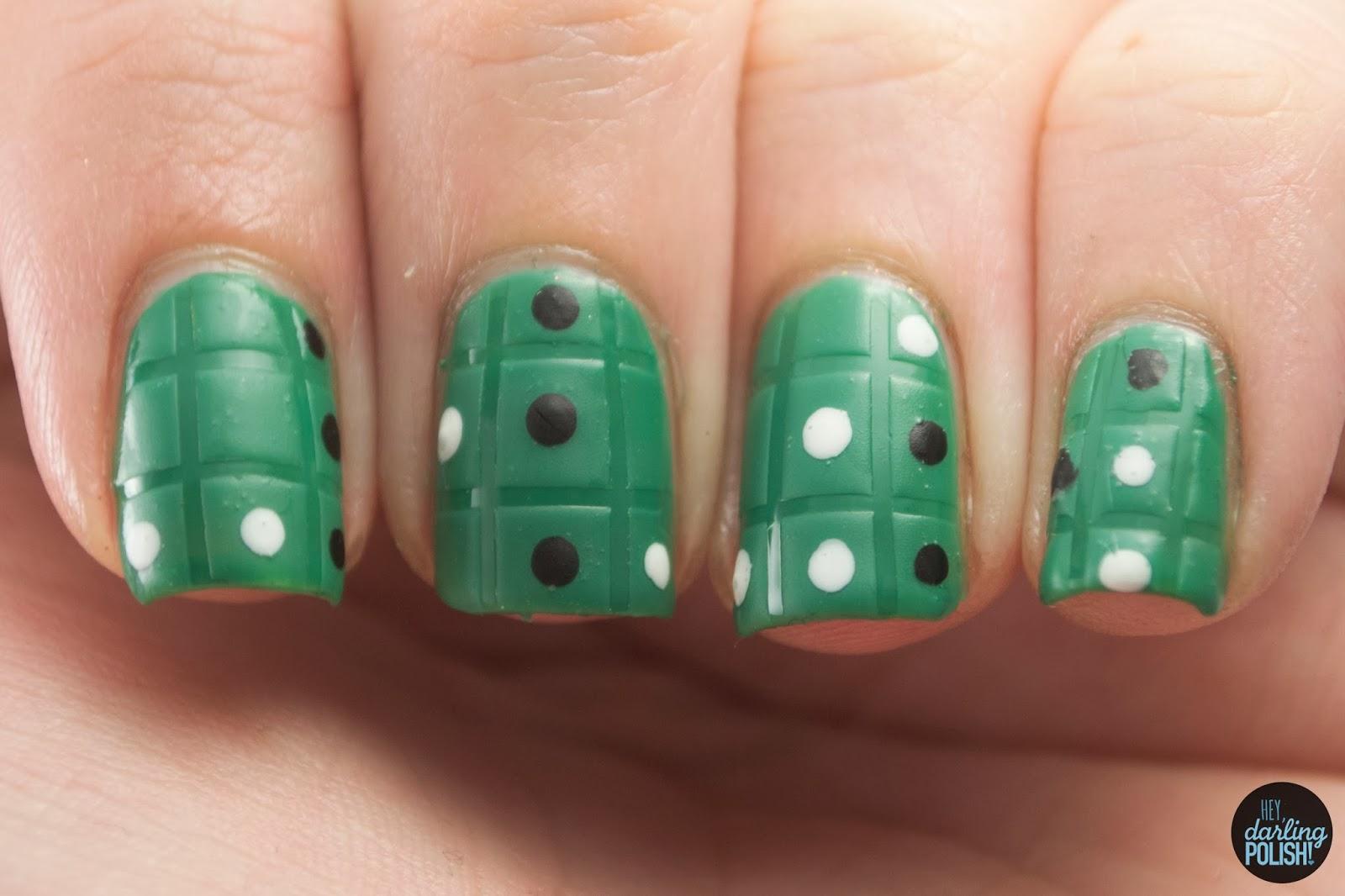 nails, nail art, nail polish, polish, game night, othello, green, dots, grid, matte, hey darling polish, nail art a go go