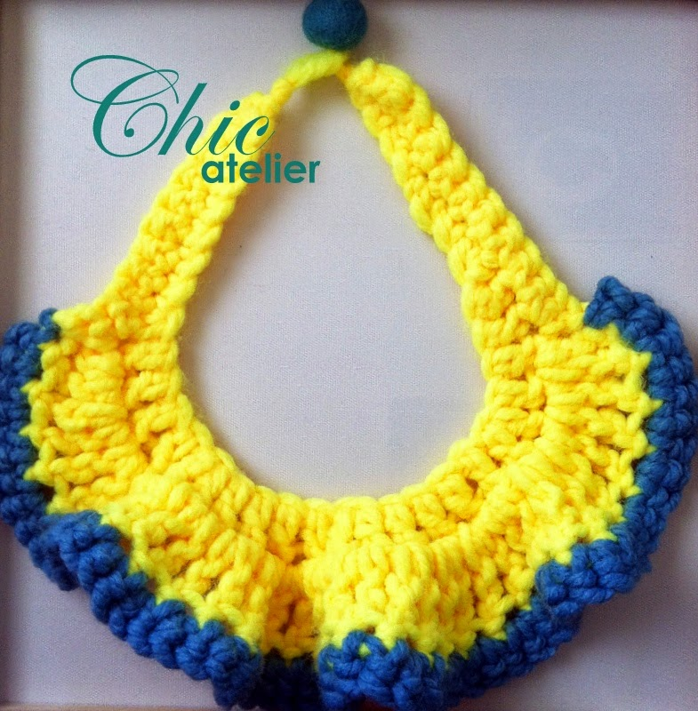 Collares de lana tejidos hechos a mano