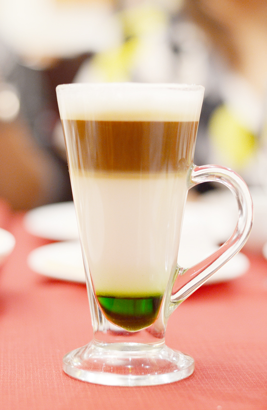 Zabadani Layered Coffee, Matcha Green Tea