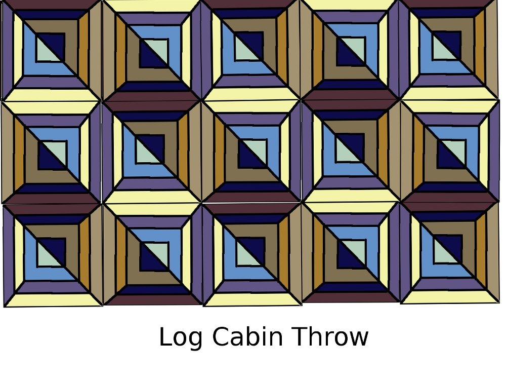 51111 My Current Crochet Project Log Cabin Throw