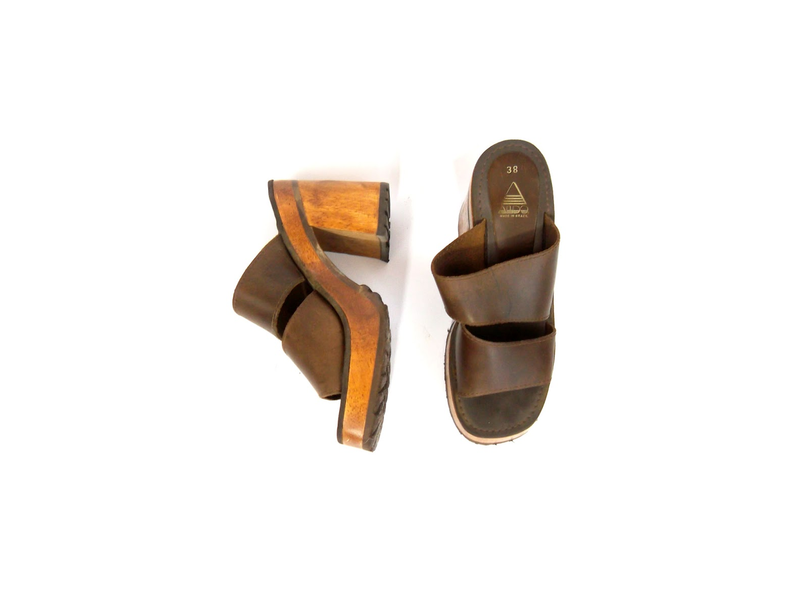70s wood heels