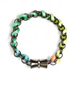 Neon coloured chain rope bracelet