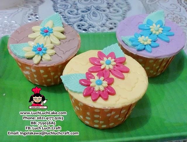 Cupcake Bunga Cantik Daerah Surabaya - Sidoarjo