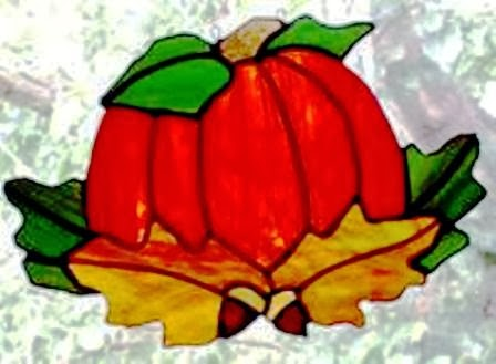 Harvest Pumpkin Stained Glass