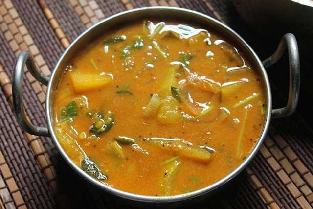 Raw Mango Sambar Recipe - South Indian Mango Sambar Recipe
