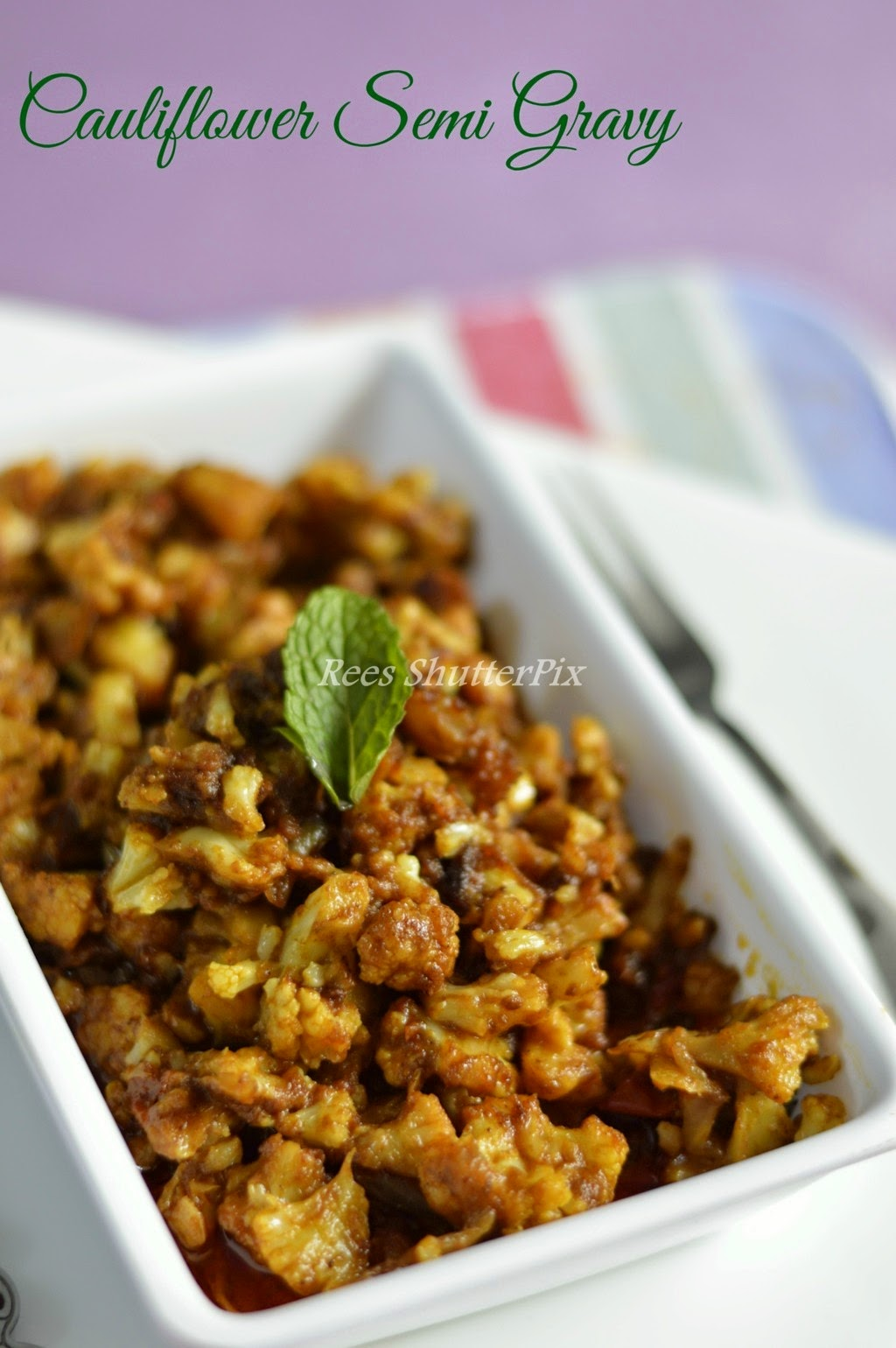 cauliflower gravy recipe for chappathi, semi gravy