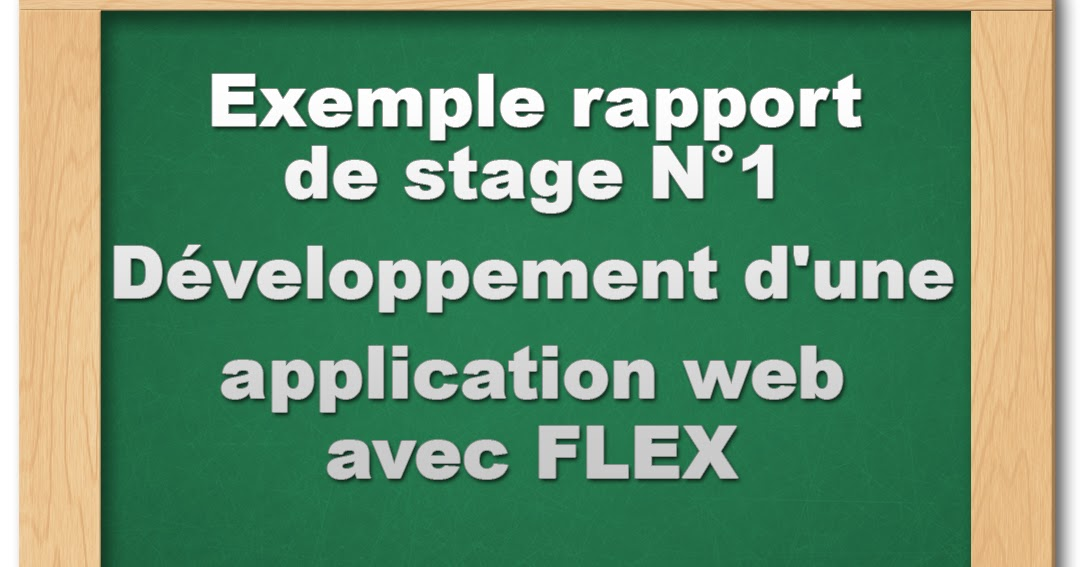 rapport de stage   d u00e9veloppement d u0026 39 une application web