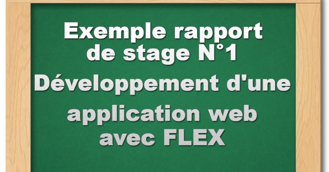 rapport de stage   d u00e9veloppement d u0026 39 une application web