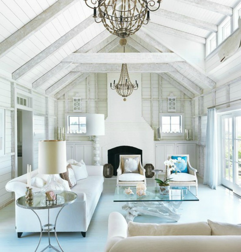 white on white coastal room