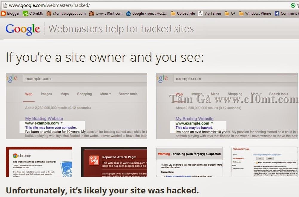 Google Webmasters Hacked