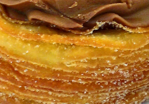 cronut close of the layers
