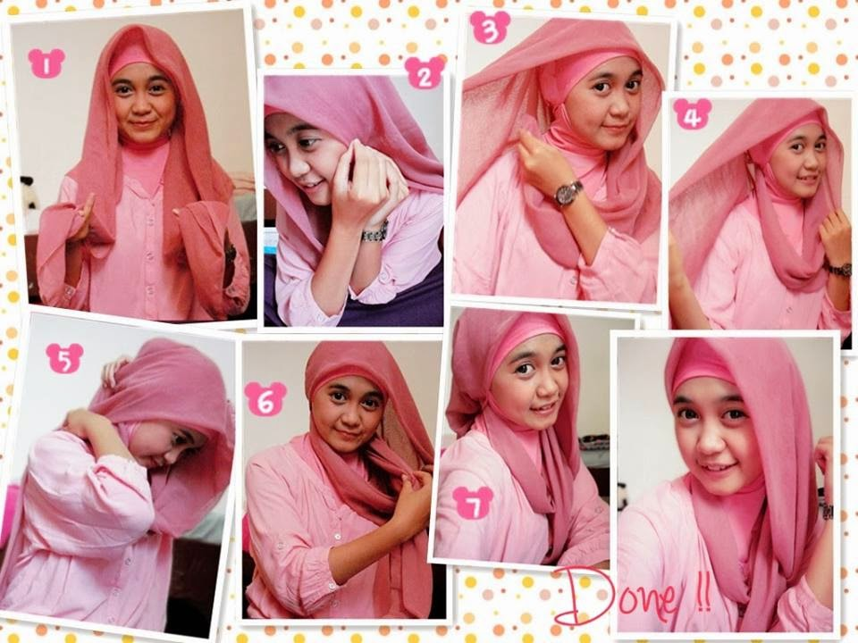 model hijab paris simple