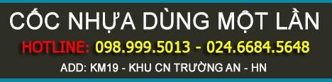 Cốc Nhựa Dùng Một Lần - Hotline: 0989995013