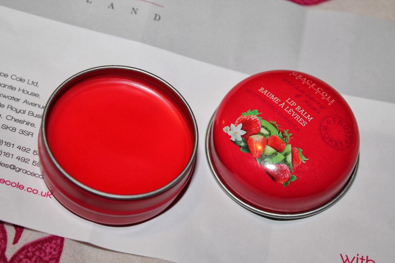 Grace Cole Fruit Works Lip Balm - Strawberry and Kiwi