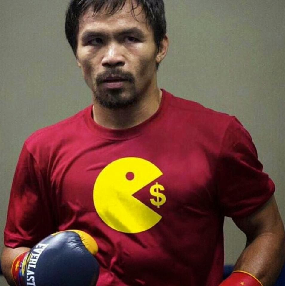 "Manny Pacquiao's ""Pac-Man Eating Money"" Shirt Is Fake!"
