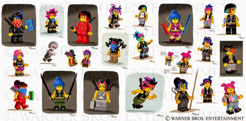 Super Punch: Concept art for Wildstyle from The Lego Movie