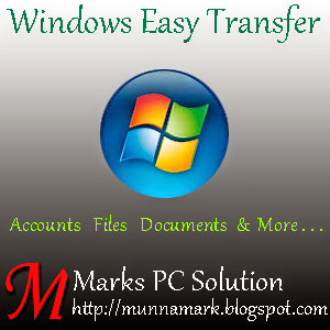 Back up and restore your files through Windows Easy Transfer