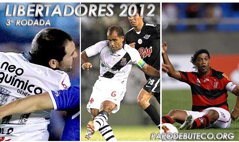 3ª rodada da Libertadores 2012: Empates de Vasco, Flamengo e Corinthians.