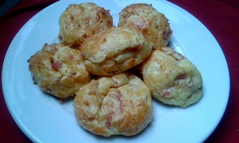 gougères jambon fromage