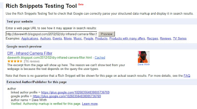 Rich Snippets star and rating