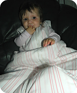Little Miss in her Bubbaroo Joey Swag Sleeping Bag