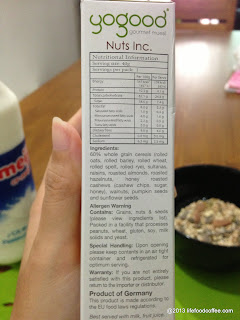 YoGood Cereal, nuts
