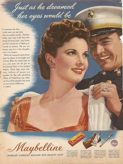 1940s Maybelline ad Just Peachy, Darling