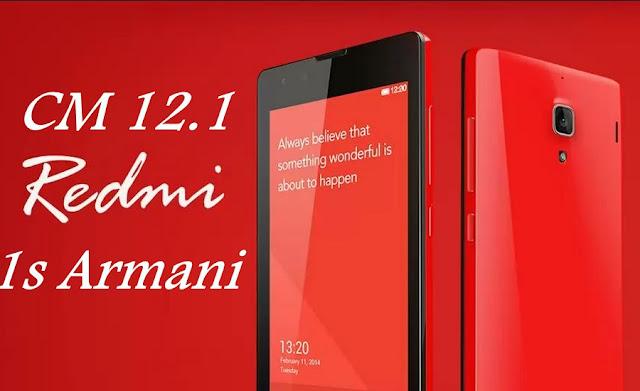 Cyanogenmod 12.1 custom rom redmi 1s