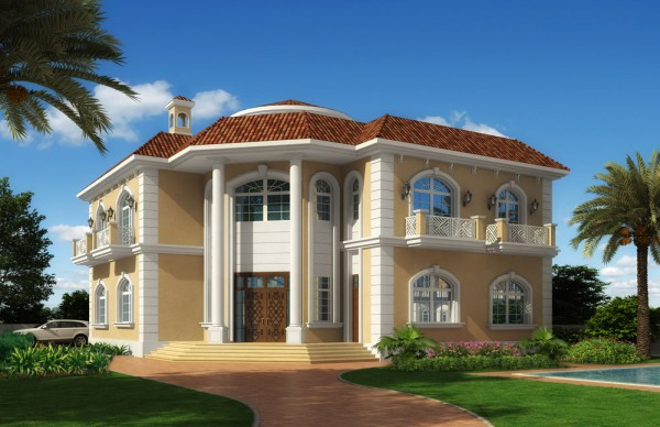 Modern residential villas designs dubai modern home for Villa ideas designs