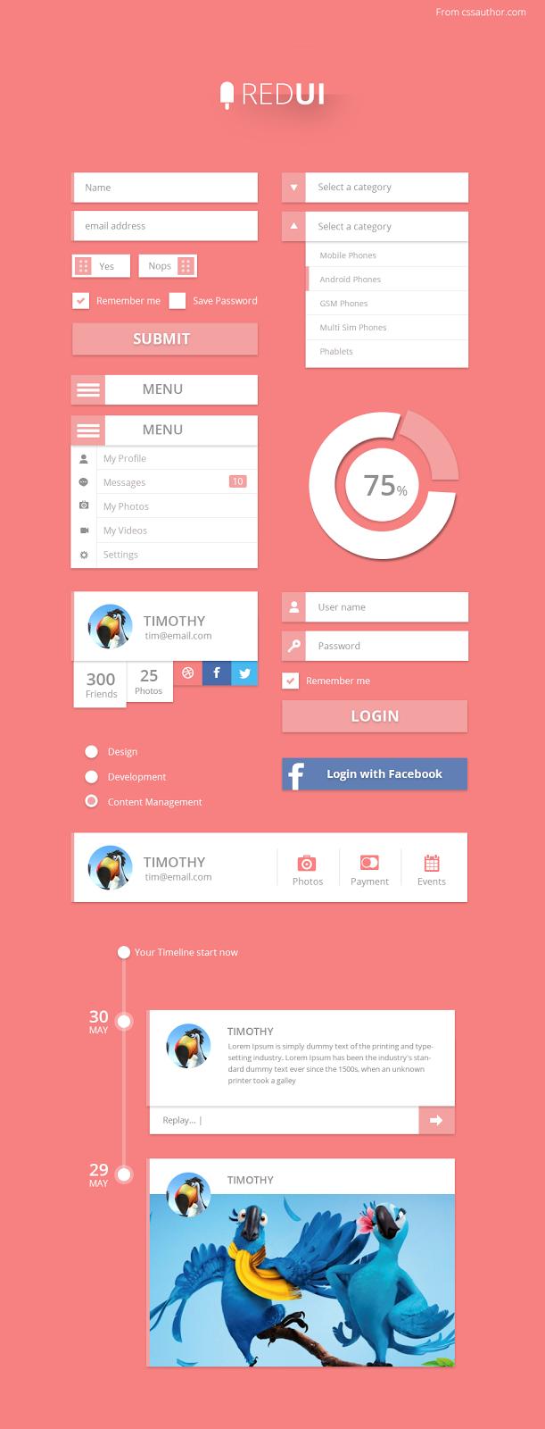 Free UI Design Kit PSD