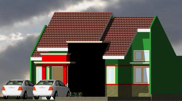 contoh rumah minimalis gambar rumah denah type 80 axonometry