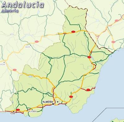 Almeria Andalucía mapa de la ciudad