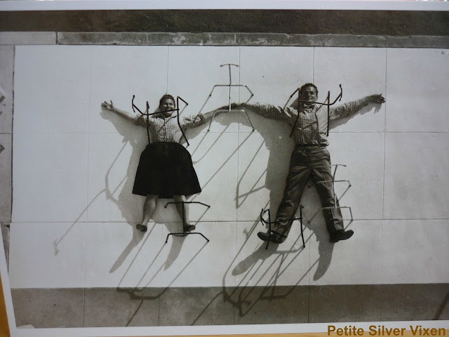 Exhibition Postcard of Charles and Ray Eames | Petite Silver Vixen
