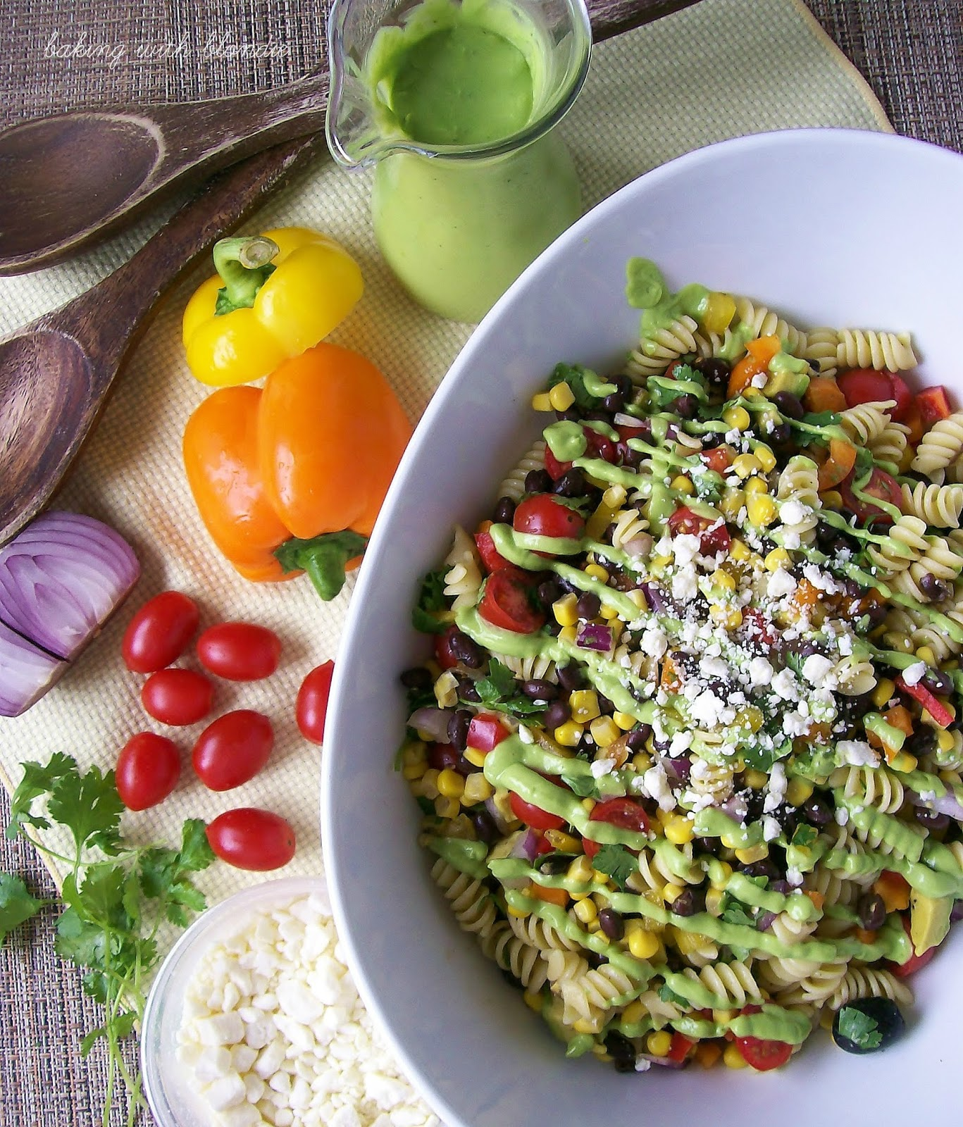 ... with Blondie : Southwestern Pasta Salad with Creamy Avocado Dressing