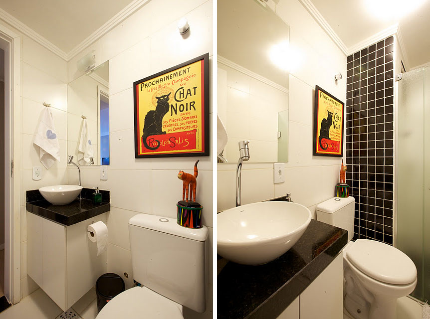 decoração para apartamentos pequenos  Para Sempre Cinderela -> Banheiros Apto Pequeno