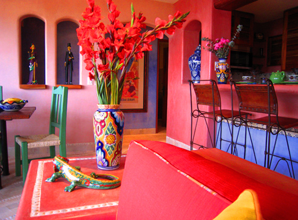 Dise o y decoraci n de interiores departamentos peque os y for Decoracion de interiores estilo mexicano