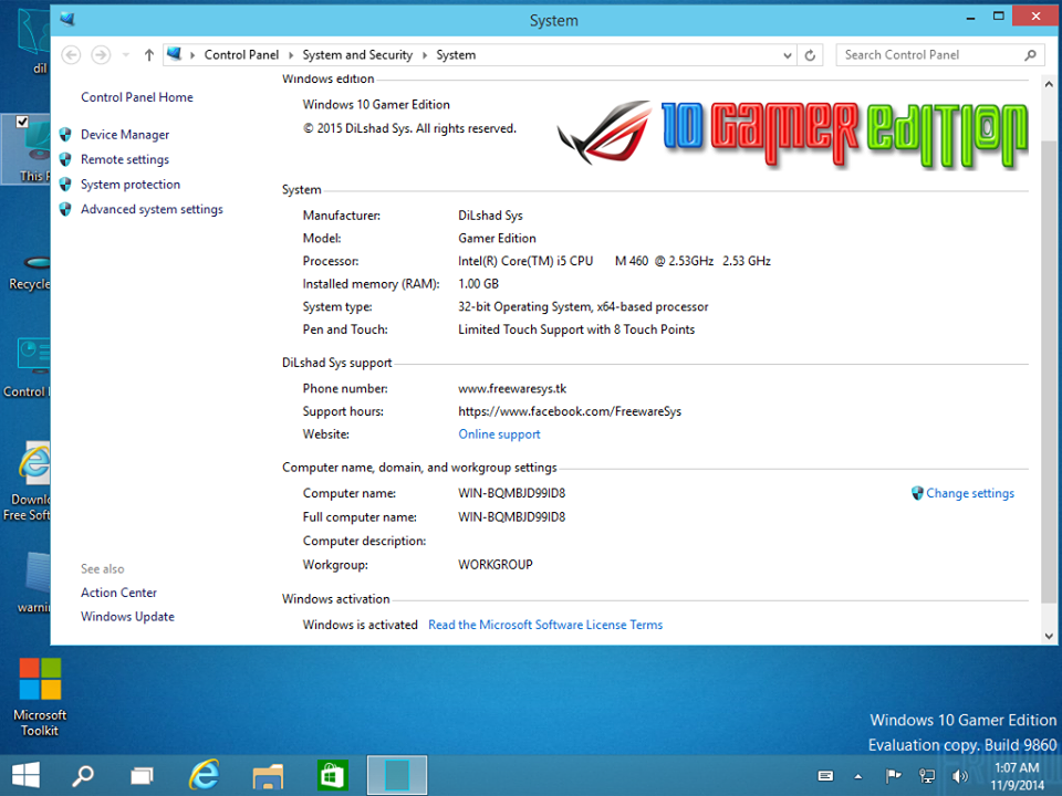 Download Windows 10 Gamer Edition (x86/x64) Build 9860 ...