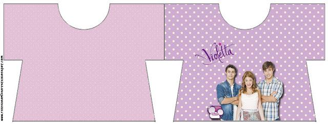 Violetta: invitaciones y tarjetería para imprimir gratis.