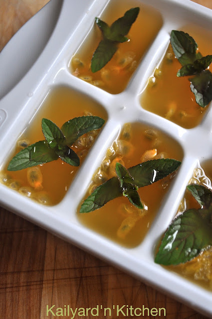 passion fruit mint ice cubes ready for the freezer mint passion fruit ...