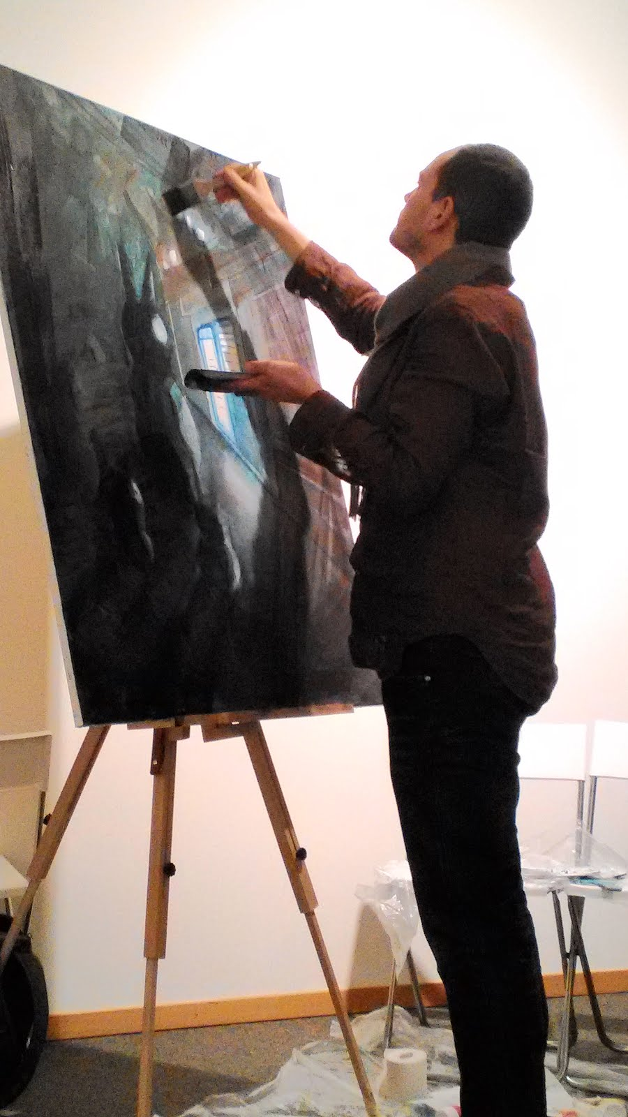 HI guys, I did a live painting in Geneva yesterday night