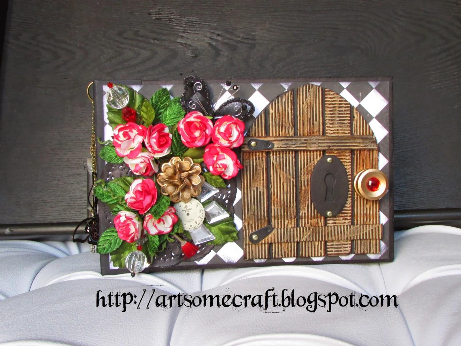 Art some craft alice in wonderland mini album with kathy for Alice in wonderland crafts